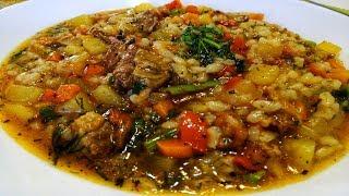 Сытный Узбекский супчик.Очень вкусный.Съедаем за раз.