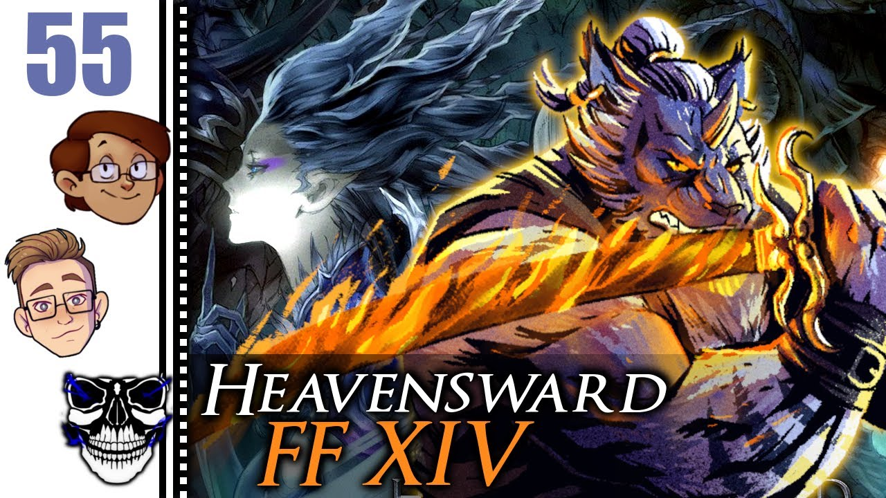 Let's Play Final Fantasy XIV: Heavensward Co-op Part 55 - Hraesvelgr