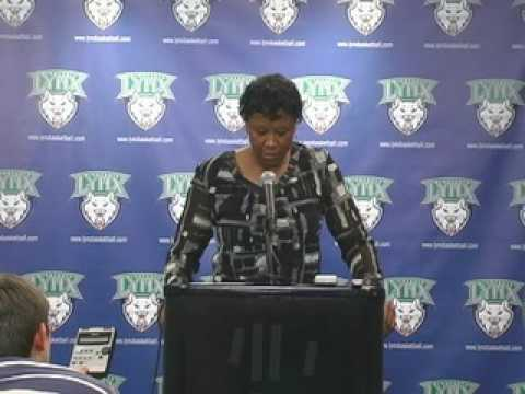 Post Game Audio with Coach Gillom: Minnesota Lynx vs. Indiana Fever 8-13-09