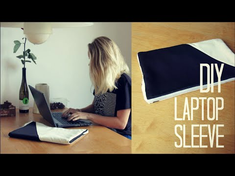 how to make a laptop sleeve at home