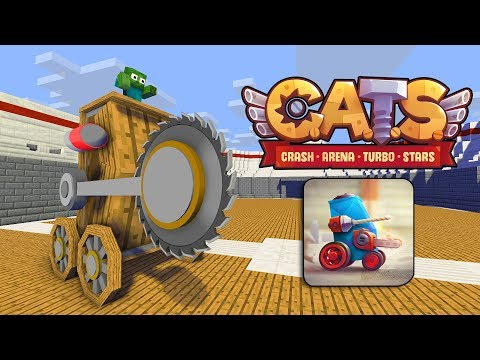 Monster School : C.A.T.S CRASH ARENA TURBO CHALLENGE - Minecraft Animation