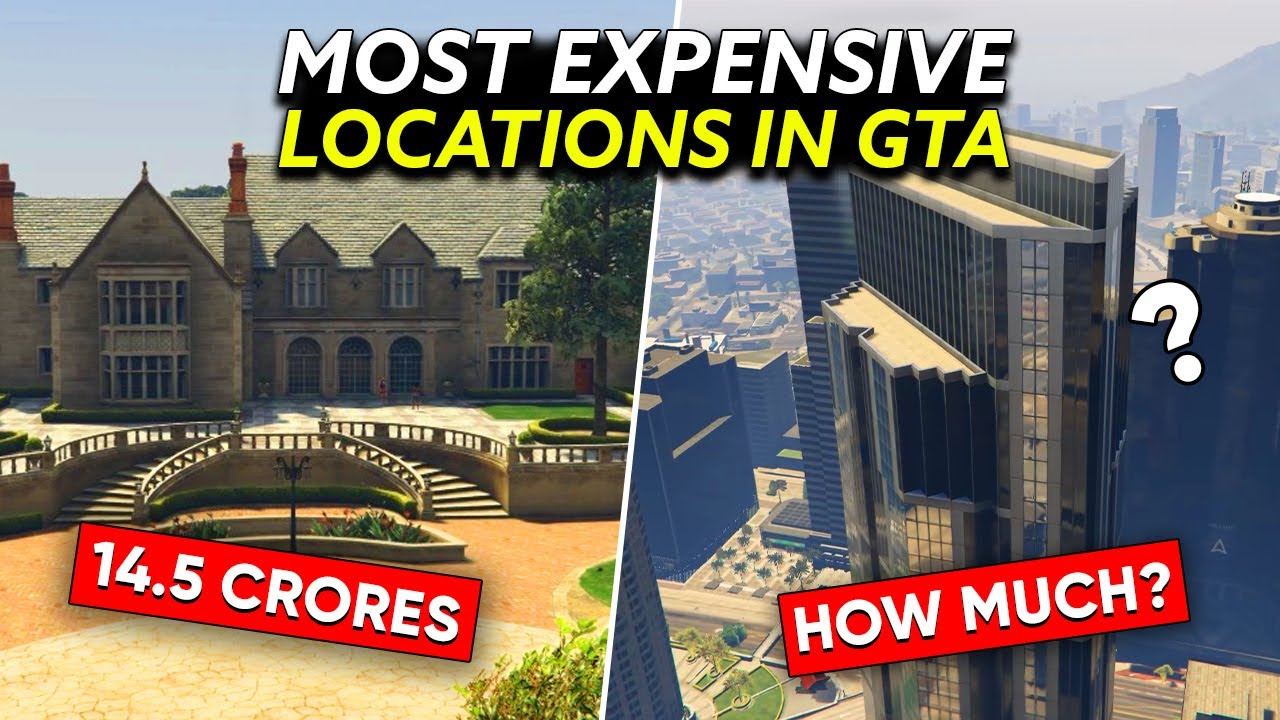 10 MOST EXPENSIVE PLACES of GTA Based from REAL LIFE!