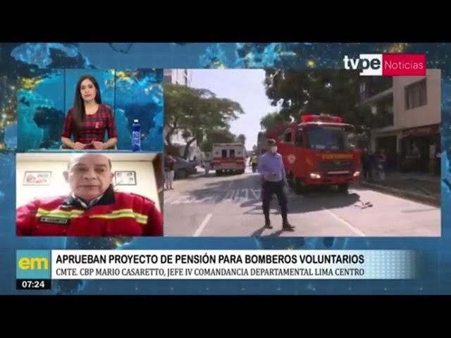 Aprueban proyecto de pensión para bomberos peruanos