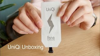 UniQi Unboxing   Qi Wireless Charging Receiver for phones with USB type-C