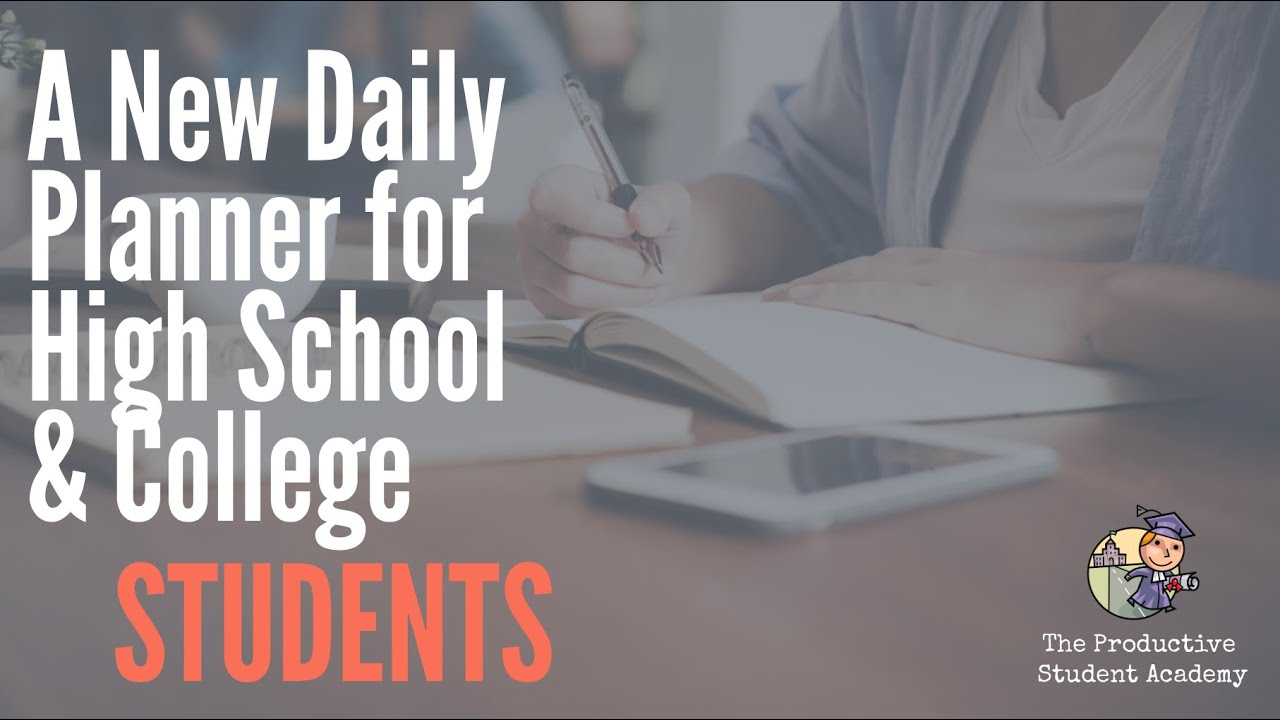 A New Daily Planner for High School & College Students.