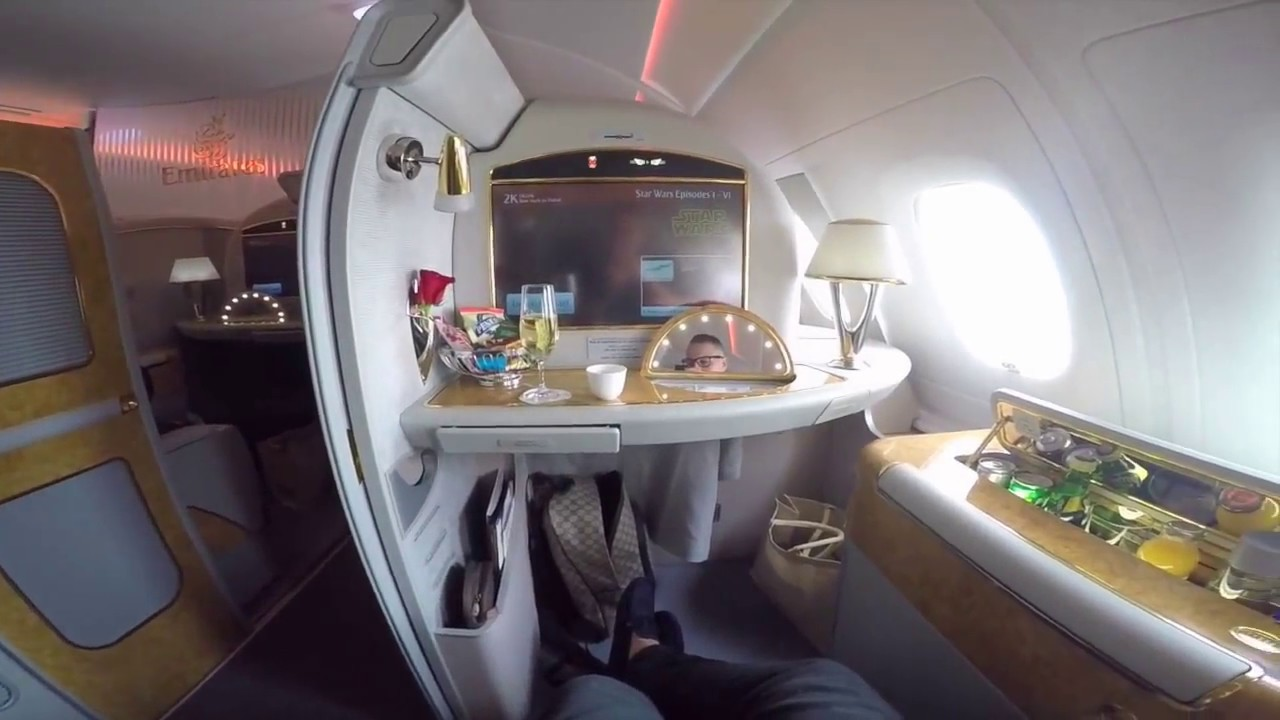 $21,000 Emirates First Class Suite A380 JFK-DXB - YouTube Emirates First Class A380 Suite
