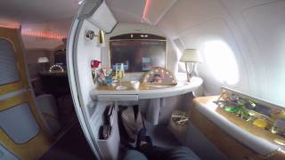 21 000 emirates first class suite a380 jfk dxb