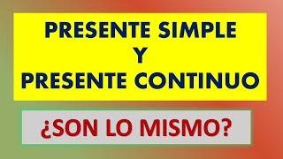 Presente simple y presente continuo, ¿cual es la diferencia? Inglés Fácil