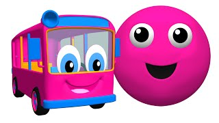 the bus is pink plus more   3d color balls   babies learn colours   rhymes surprise busy beavers