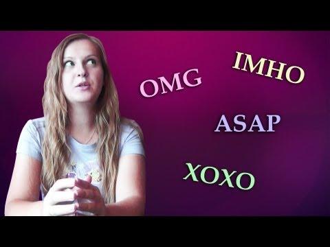 №23 English Vocabulary 5: OMG, XOXO, ASAP, IMHO - Chat Acronyms