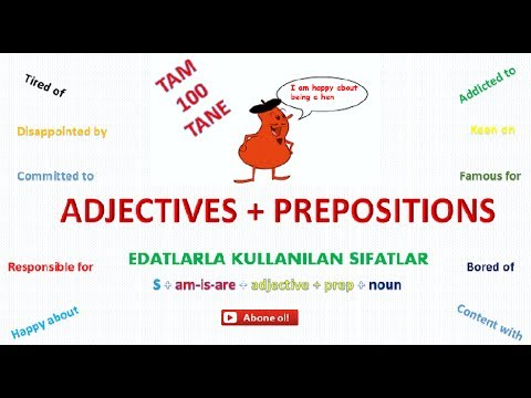 ADJECTIVE + PREPOSITION COMBINATIONS