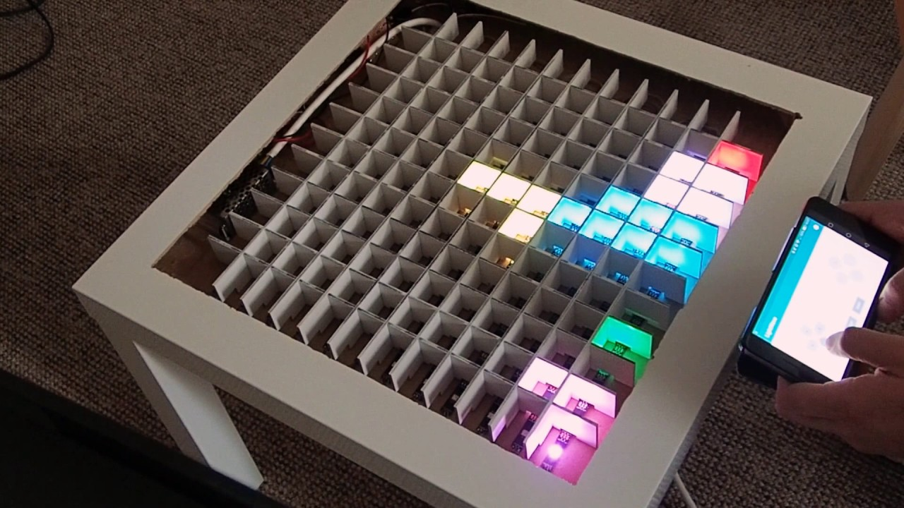 Arduino led tetris table youtube