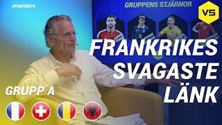 Frankrikes svagaste länk  Grupp A - Frankrike | Albanien | Schweiz | Rumänien