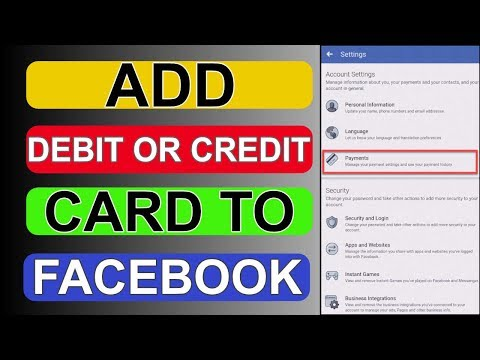How To Add Credit Or Debit Card On Facebook