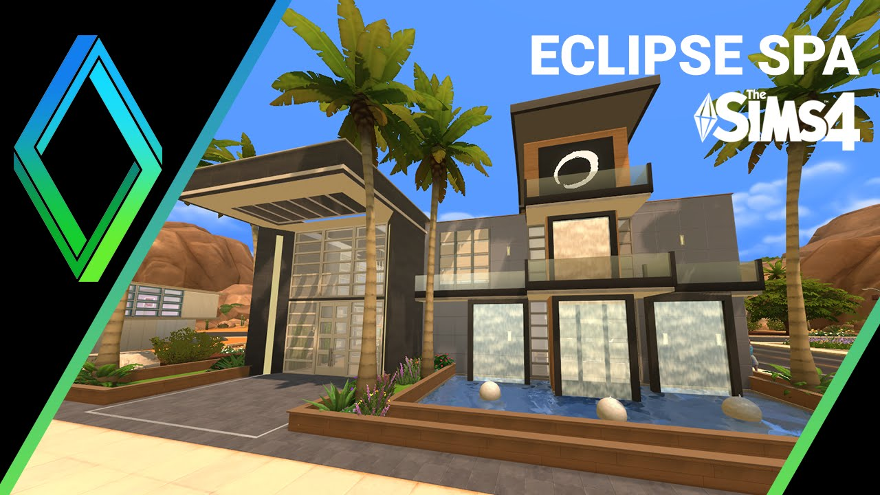 The sims 4 house building eclipse spa youtube for Spa construction