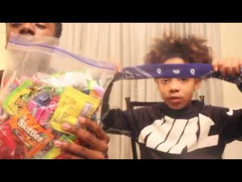 Blind fold candy challenge