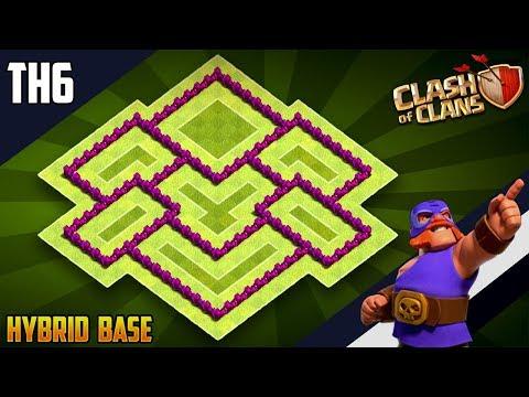 New BASE TH6 HYBRID/TROPHY Base 2019!! COC Town Hall 6 (TH6) Hybrid Base Design - Clash Of Clans