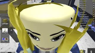 my sister first time playing roblox she is okay