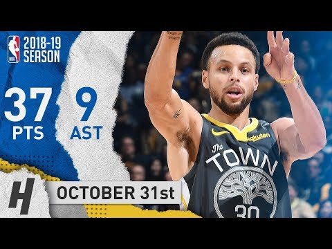 Stephen Curry Full Highlights Warriors vs Pelicans 2018.10.31 - 37 Pts, 9 Ast, NASTY!