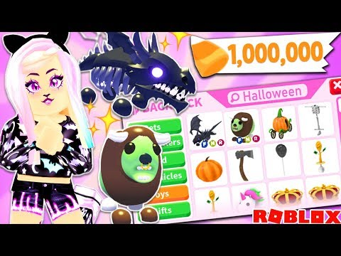 ADOPT ME BRAND NEW UPDATE! Buying ALL New Halloween Items + Pets! Huge Robux Spending Spree