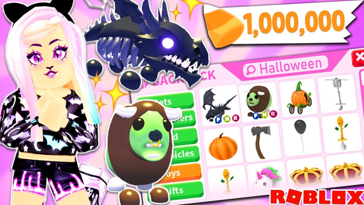 Adopt Me Brand New Update Buying All New Halloween Items Pets