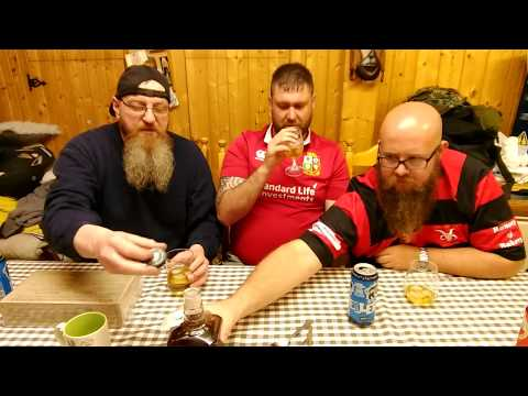 The Manx beard club tests a French MRE military ration.