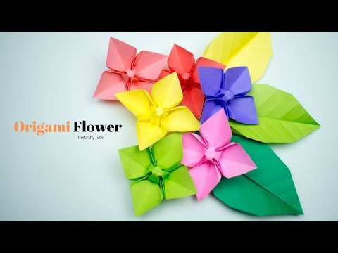 Paper Flower - Origami Flower - How To Make Origami Flower - Paper Craft For School - DIY