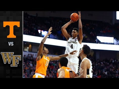Tennessee vs. Wake Forest Basketball Highlights (2017-2018)
