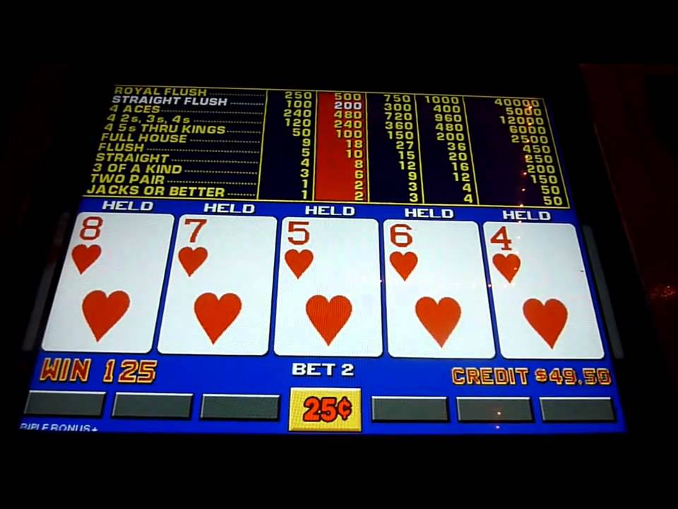 Video Poker Slot Machine Strategy