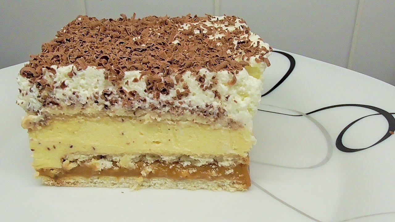 leckere Kuchen mit Karamell ohne backen 3 BIT  YouTube