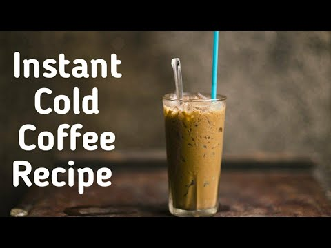 Easy Cold Coffee Recipe at Home Without Ice Cream   Cold ...