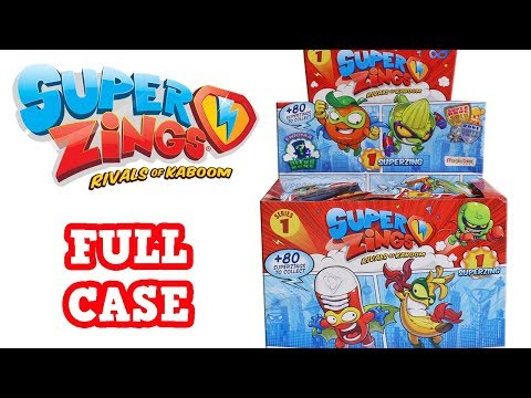 Super Zings Rivals of Kaboom Series 1 Blind Bag Unboxing Toy Review Blind Box Full Case Opening