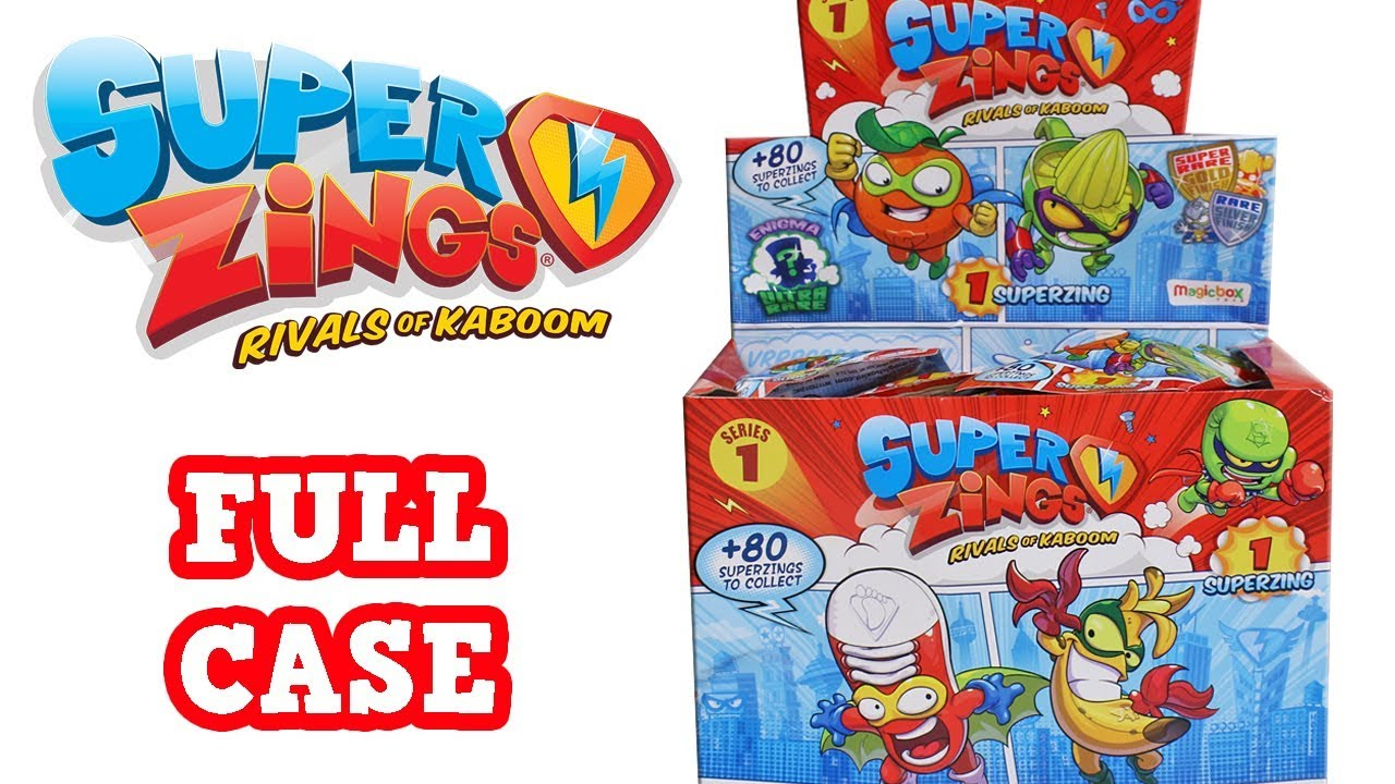 Super Zings Rivals Of Kaboom Series 1 Blind Bag Unboxing Toy Review Blind Box Full Case Opening Youtube