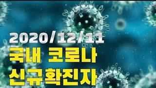 코로나에 경각심을....제발 2020/12/11 국내 지역별 코로나 신규확진자/사망자/검사수/격리해제 Coronavirus new  confirmed person