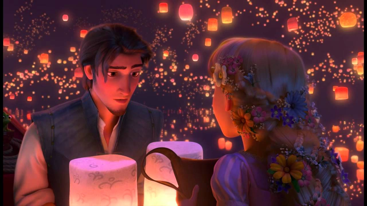 Cute Girl Flying Kiss Wallpaper 720p Hd Tangled Quot I See The Light Quot Complete Lantern