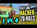Solo Vs Squad 20 Kills Play Like Hacker Gameplay - Garena Free Fire- Total Gaming
