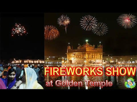 FIREWORKS DISPLAY | Tourist Attractions at Golden Temple in India✔