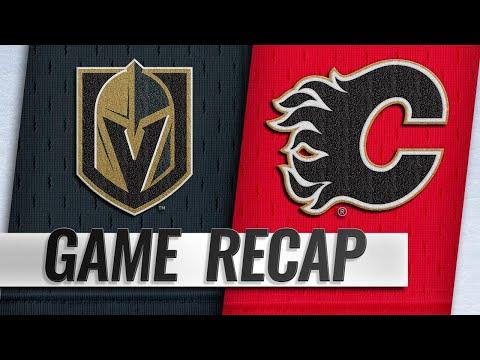 Flames erupt for seven goals in win over Golden Knights