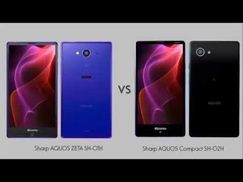 Sharp AQUOS ZETA SH 01H vs Sharp AQUOS Compact SH 02H comparison