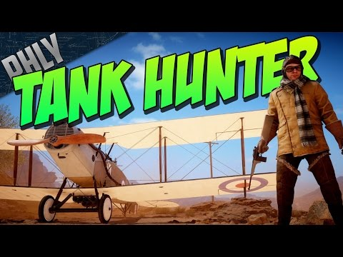 TANK CANNON ON A PLANE - Attack Plane Tank Hunter (Battlefield 1 Gameplay)