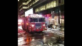 FDNY engine 10, battalion 1 arriving on scene