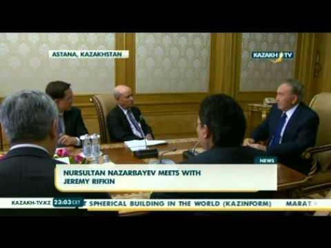 Nursultan Nazarbayev meets with Jeremy Rifkin