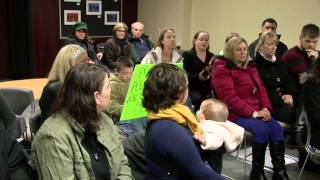 Fairview Elementary Parent Demonstration and meeting with Superintendent