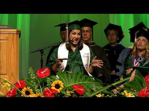 Alysia Kezerian - University of Oregon 2016 Commencement