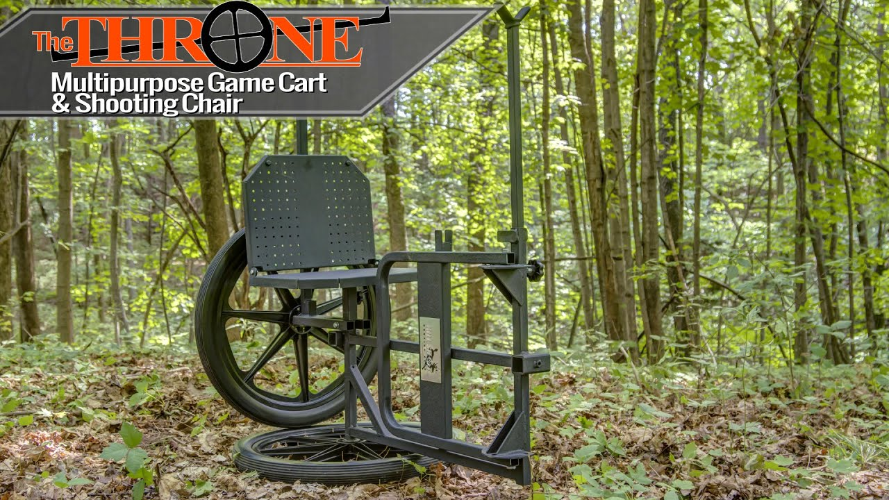 Bow hunting chair - The Throne Multipurpose Game Cart Hunting Chair By Kill Shot Youtube