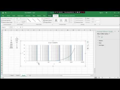 MS EXCEL CLASS 9 . HOW TO SEMI-LOG GRAPH PLOT BY MS CXCEL