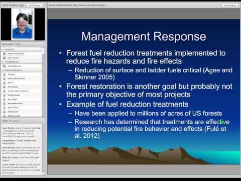 The Ecological Effects of Fuel Treatments in US Forests: Scott Stephens