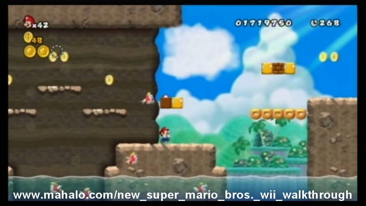 New Super Mario Bros Wii Walkthrough World 4 2 Youtube