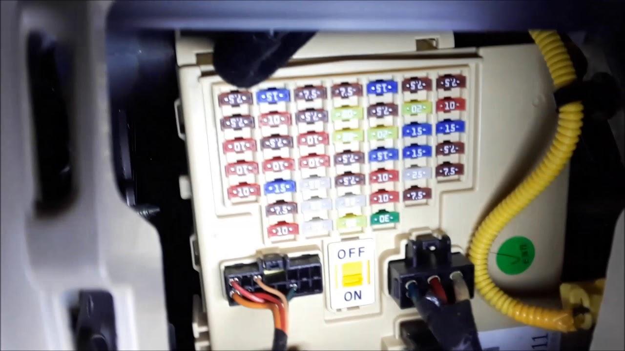 hyundai elantra fuse box obd2 computer hookup locations youtube 2013 hyundai elantra fuse box diagram 2013 hyundai fuse box [ 1280 x 720 Pixel ]