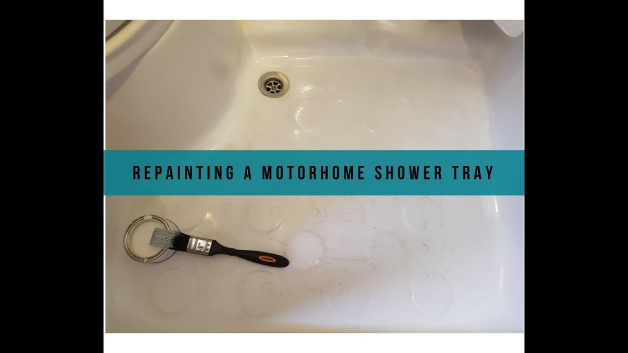Repainting a Motorhome Shower Tray - YouTube